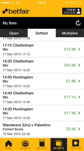 Steady profits for one of our members at Cheltenham!